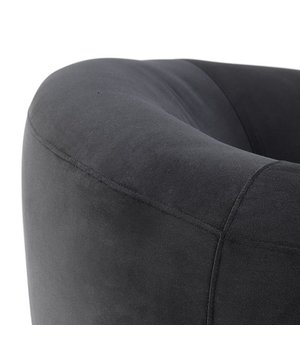 Eichholtz Sessel 'Caponi' Bague Black Velvet