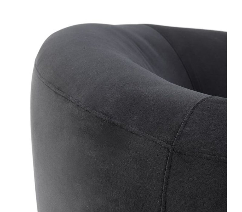 Sessel 'Caponi' Bague Black Velvet
