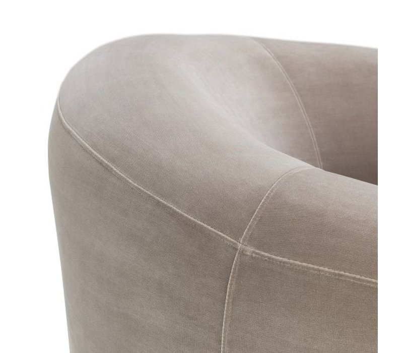 Eichholtz CHair  'Capio' Bague Grey Velvet