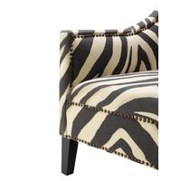 Fauteuil 'Jenner' Zebra Print