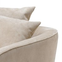 Chair 'Les Palmiers' Greige Velvet