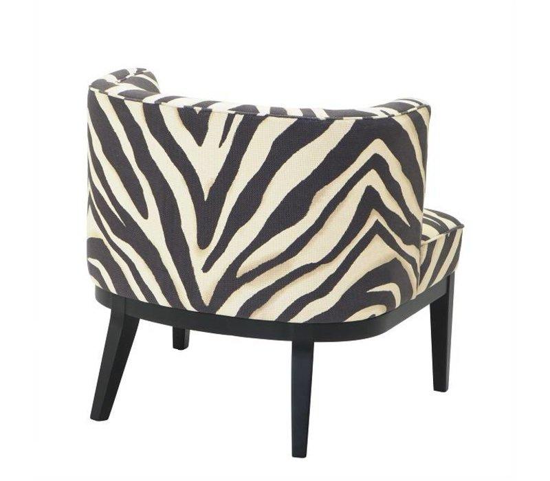 Stuhl 'Baldessari' Zebra Print