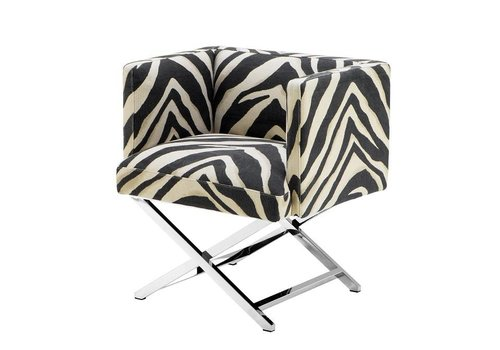 Eichholtz Chair 'Dawson' Zebra Print