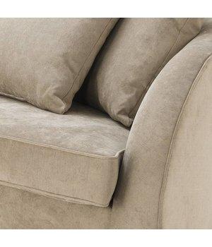 Eichholtz Sofa 'Les Palmiers' Greige Velvet