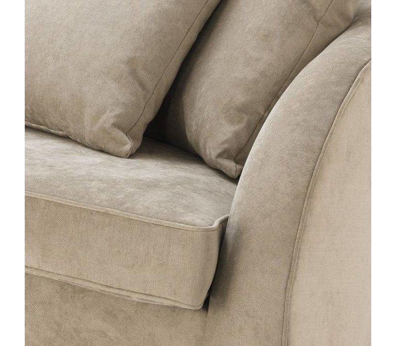 Sofa 'Les Palmiers' Greige Velvet