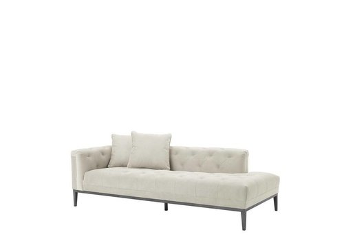 Eichholtz Lounge Sofa 'Cesare' Left Pebble Grey