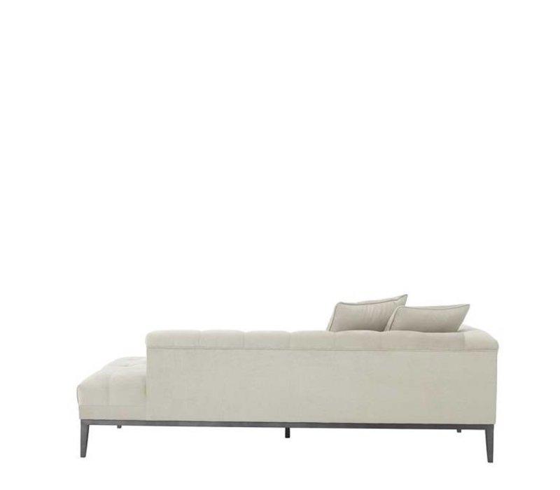Lounge-Sofa 'Cesare' Left Pebble Grey