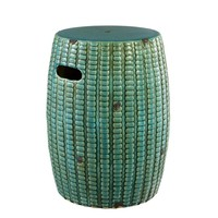Side table ceramic 'Drum Santander' - antique turquoise