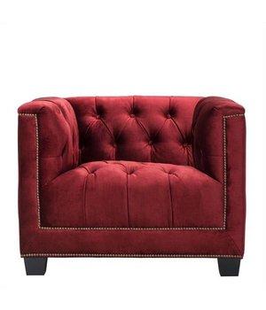 Eichholtz Fauteuil 'Paolo' Essex Red