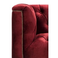 Sessel 'Paolo' Essex Red