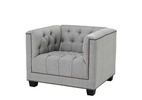 Eichholtz Chair 'Paolo' Herringbone Grey