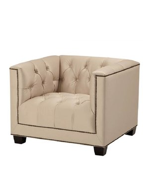 Eichholtz Chair 'Paolo' Light Sand Satin