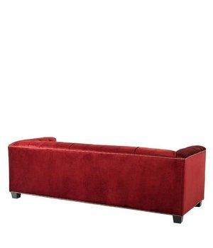 Eichholtz Sofa 'Paolo' Essex Red