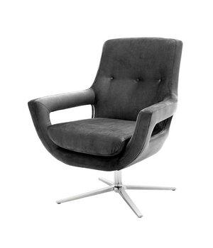 Eichholtz Swivel Chair 'Flavio' Granite Grey