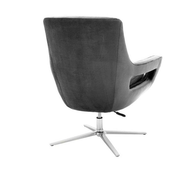 Swivel Chair 'Flavio' Granite Grey