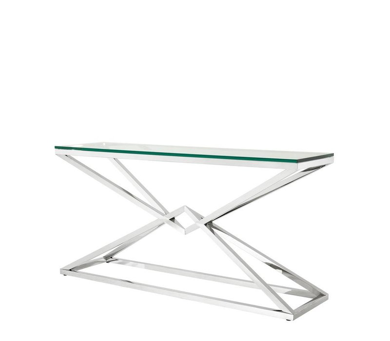 Glass Console table 'Connor' 150 x 40 x H. 74 cm