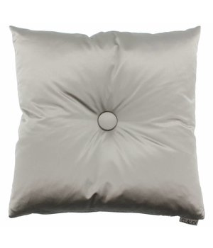 Claudi Throw pillow Dafne color Taupe with XL button