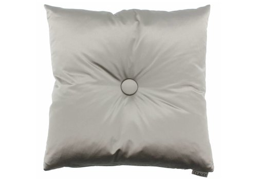 CLAUDI Chique throw pillow Dafne Taupe XL button