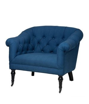Eichholtz Chair 'Bentley' Blue Linen Blend