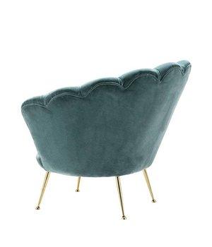 Eichholtz Sessel 'Trapezium' Cameron Deep Turquoise