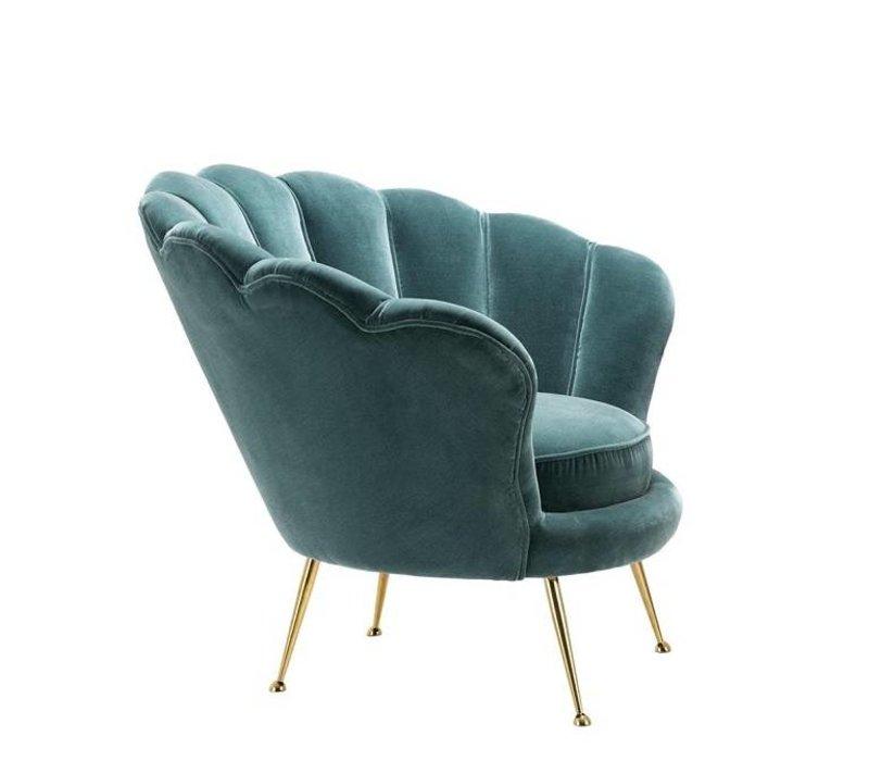 Chair 'Trapezium' Cameron Deep Turquoise