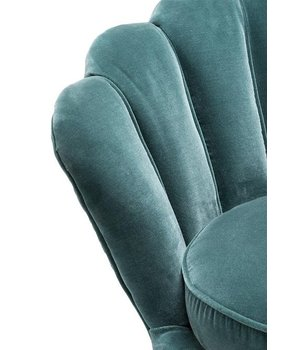 Eichholtz Chair 'Trapezium' Cameron Deep Turquoise
