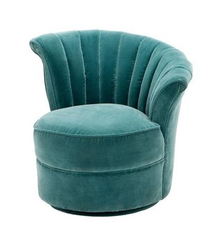 Eichholtz Chair 'Areo Right' Cameron Deep Turquoise