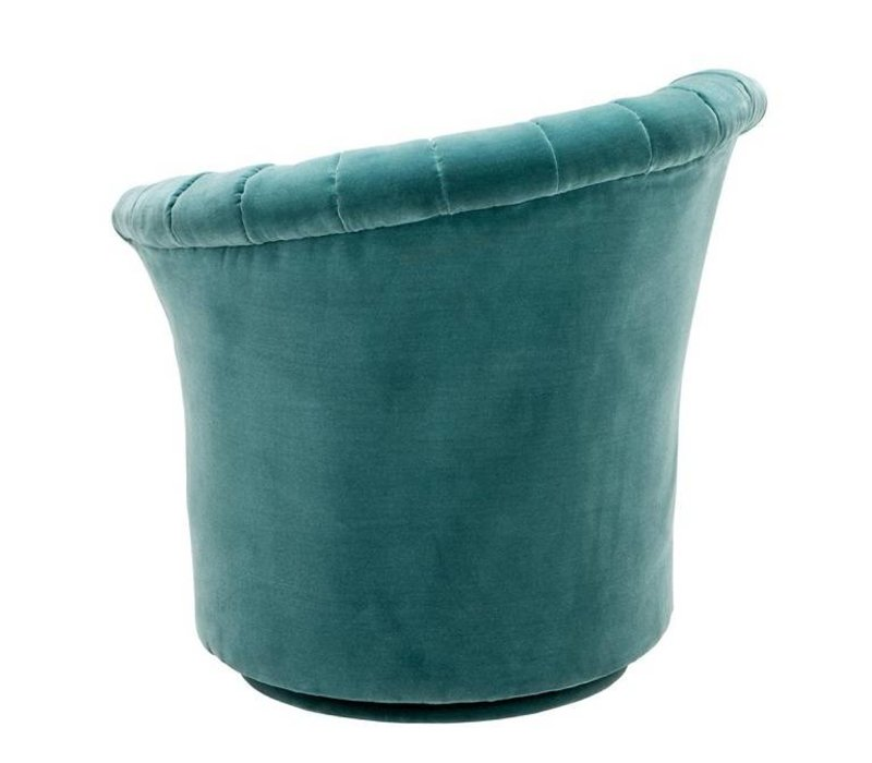 Chair 'Areo Right' Cameron Deep Turquoise