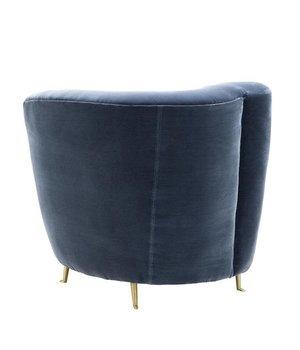 Eichholtz Chair 'Khan' Cameron faded blue