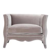 Sessel 'Bouton' Bague Grey Velvet