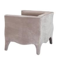 Chair 'Bouton' Bague Grey Velvet