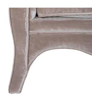 Eichholtz Chair 'Bouton' Bague Grey Velvet
