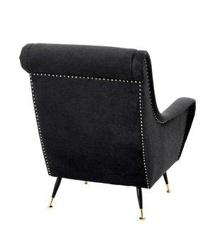 Eichholtz Chair 'Giardino' Black Velvet