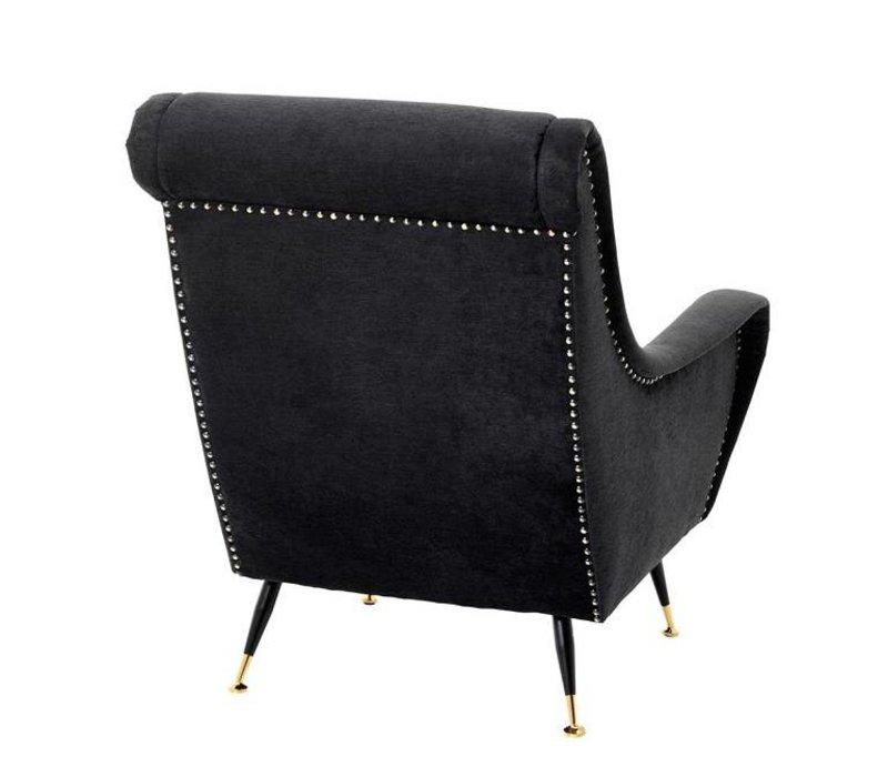 Sessel 'Giardino' Black Velvet