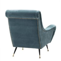 Chair 'Giardino' Cameron Deep Turqoise