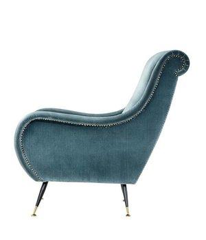 Eichholtz Chair 'Giardino' Cameron Deep Turqoise