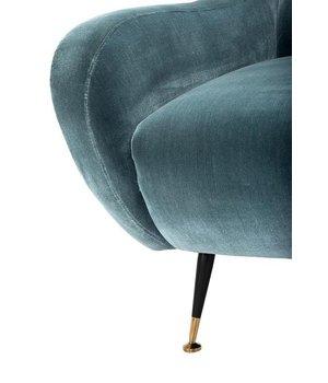 Eichholtz Sessel 'Giardino' Cameron Deep Turquoise