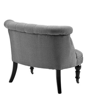 Eichholtz Chair 'Loveseat Camden' Herringbone Black & White
