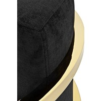Fauteuil 'Emilio' Black Velvet with Gold Finish