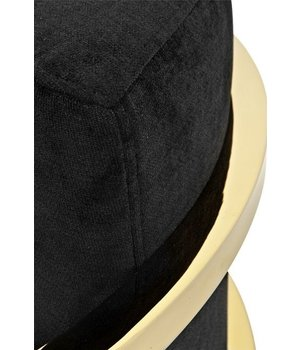 Eichholtz Chair 'Emilio' Black Velvet with Gold Finish