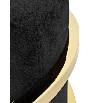 Eichholtz Sessel 'Emilio' Black Velvet with Gold Finish