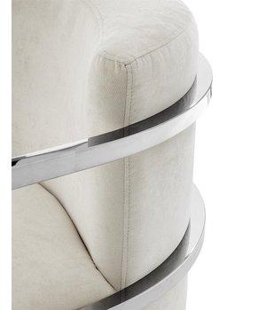 Eichholtz Chair 'Emilio' Ecru Velvet