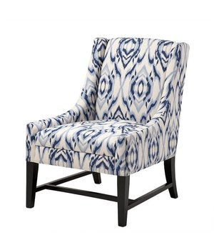 Eichholtz Sessel 'Harrison' Blue & Off-White Fabric