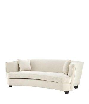 Eichholtz Sofa 'Giulietta' Ecru Velvet Three Seater