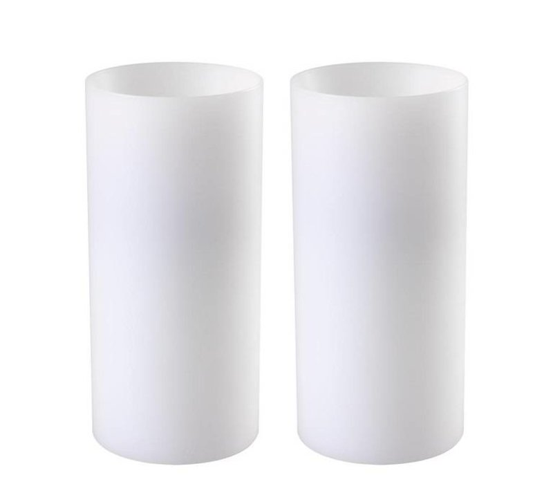 Candle Holder 'Artificial Candle deep set of 2 Large'
