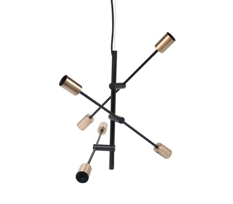 Hanglamp Pendle Metal Black & Gold L75 x W75 x H100 cm