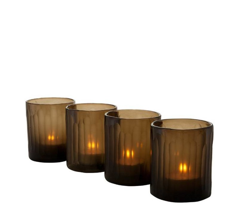 Tealight Holder 'Astor S/4 Brown'