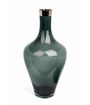 Dome Deco High glass vase grey