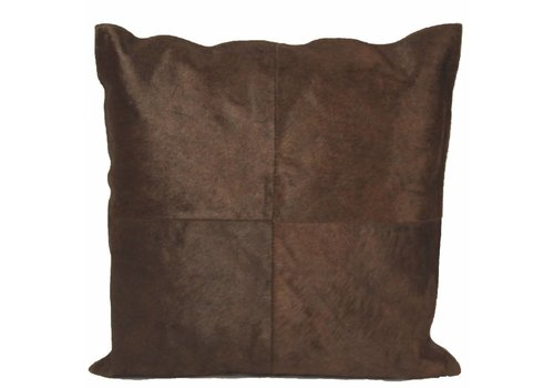 Dome Deco Cushion Cowhair Brown