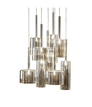 Dôme Deco Hanging Lamp 'Pendle Glass' Taupe